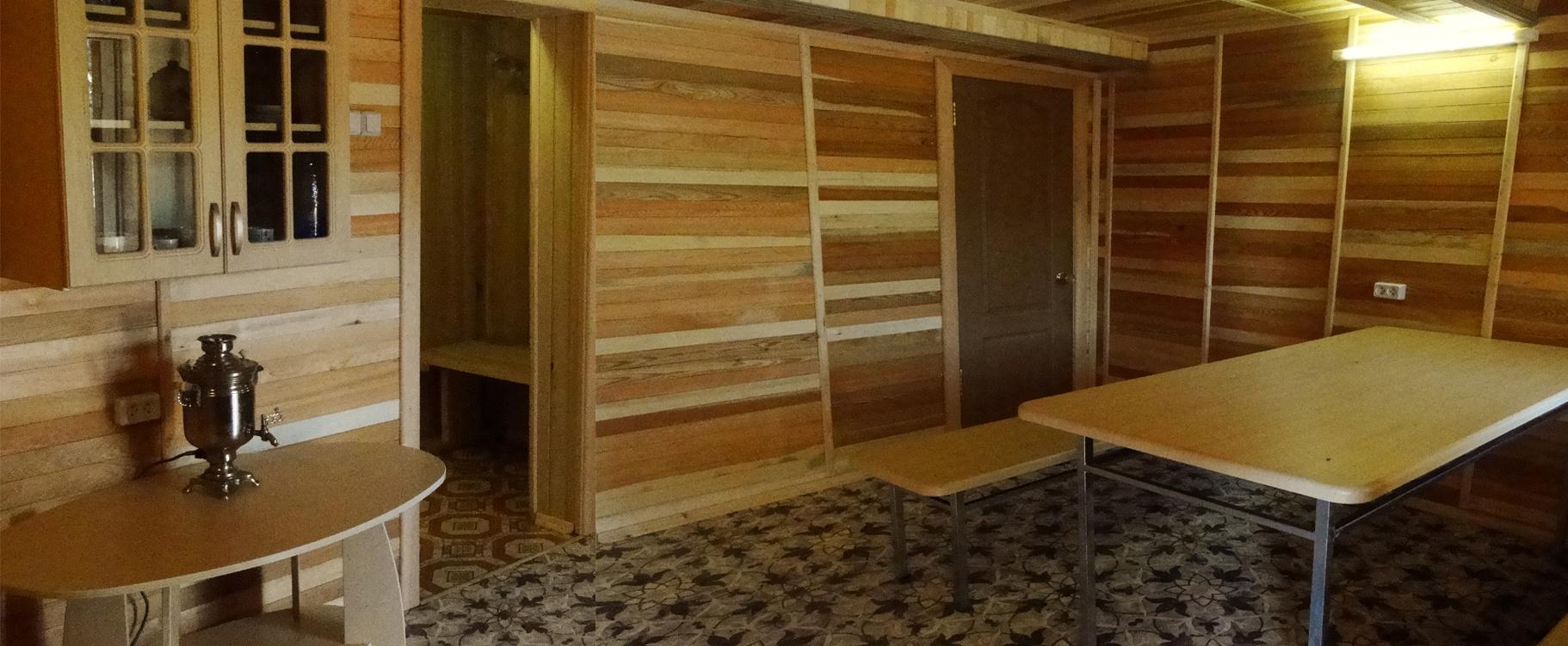 Гостиная в бане базы отдыха Парус