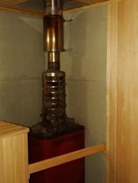 Калильная печь в бане базы Парус