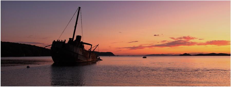 Закат в бухте Витязь